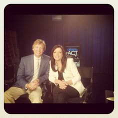 Me and Nigel Lythgoe doing early morning press for Opening Act. I used the Earlybird filter. Seemed appropriate.