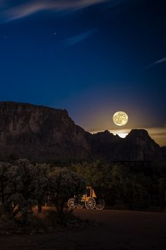 Super Moon over the Superstitions, by Pat Kofahl, on 500px