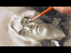 Simple steps for portrait drawing with charcoal - YouTube