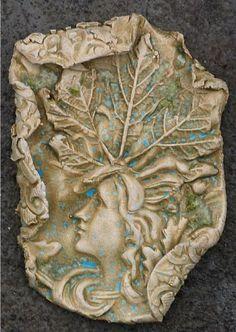 ceramic tile and polymer clay art | Art: ART tile by Artist Deborah Sprague