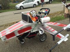 X-Wing stroller and Jedi pilot Halloween costume 2015.