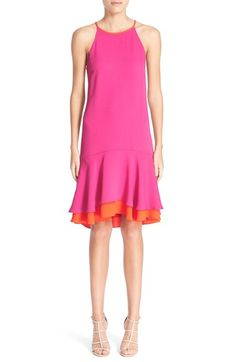 Diane von Furstenberg 'Kera' Sleeveless Crepe Drop Waist Dress available at #Nordstrom