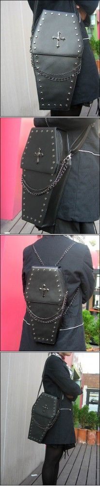 Details about gothic Punk visual Rock coffin shape handbag / backpack Dark Fashion, Gothic Fashion, Steampunk Fashion, Emo Fashion, Fashion Outfits, Visual Kei, Mode Sombre, Looks Style, My Style