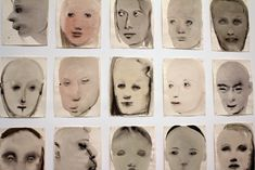 "NEW YORK—There is a fine line between a foreboding, ghostly gaze and the wounded expression borne of a broken heart. Titled ""Chlorosis (Love sick),"" Marlene Dumas's 24 pale color-washed portraits r..."