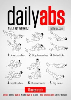 DAILY AB WORK OUT! these seem pretty easy. even if i do one a day i think it is better than nothing