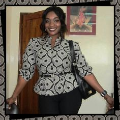 CONNOISSEUR OF STYLE   Meet Mrs Dédé Barrigah, a trader from Togo, proudly wearing one of the most known classic designs in Togo: Lomé Houinyi. Want to recreate this look? Shop this popular black and white classic now by clicking the image.