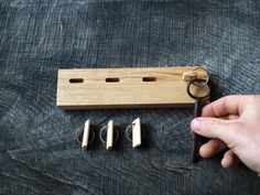 Your marketplace to buy and sell handmade items., Elegant and stylish wooden keychain made from a stunning piece of English ash and keychain set from Matte Hibbert designs. Handmade from solid English. Wooden Key Holder, Wall Key Holder, Key Holders, Wooden Pegs, Wooden Decor, Wooden Keychain, Selling Handmade Items, Ideias Diy, Key Hooks