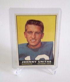 1961 TOPPS JOHNNY UNITAS FOOTBALL CARD #1 COLTS HOF #BaltimoreColts