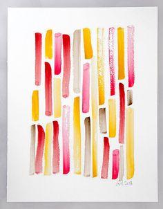 Fine Art Print from my Original Watercolor Strokes Brush Home Decor Art Decor Abstract Art by ColorsbyGretel
