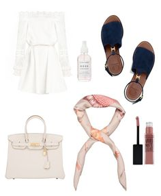 """""""Untitled #62"""" by hedddis-xx on Polyvore featuring Tory Burch, Hermès and Maybelline"""