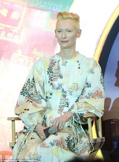 Take inspiration from the Far East in a dress like Tilda's  Click 'visit' to buy it now   #DailyMail