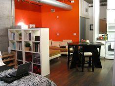 einzimmer wohnung - wohnbereiche verteilung