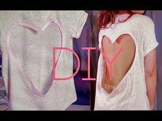 NO SEW CUT OUT SHIRT | HEART DIYhttp://www.youtube.com/watch?v=t36E05dR8Zo#