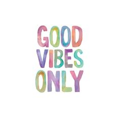 "Art.com ""Good Vibes Only"" Watercolor Wall Art Print, Multicolor"