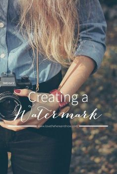 Tutorial: How to create a watermark for your blog photos. Not everyone uses a watermark but it certainly makes it easy to quickly see the source of the image, something that seems to not be considered by a lot of Internet people these days . . way too many images being lifted without credit. | lovethehereandnow.com