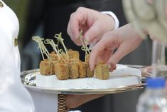 #canapes #cocktailreception Luxury Wedding, Destination Wedding, Canapes, Wedding Styles, Ireland, Weddings, Vegetables, Food, Bodas