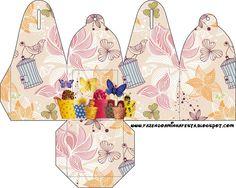 Cajitas para imprimir gratis de Bebés de Anne Geddes Primavera.