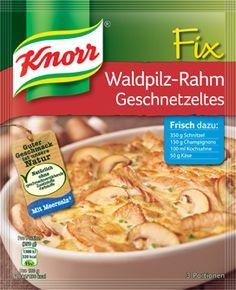 KNORR Fix für Waldpilz-Rahm Geschnetzeltes