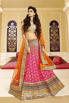 http://www.mangaldeep.co.in/lehengas/outstanding-pink-and-orange-designer-party-wear-lehenga-choli-4973 For further inquiry whatsapp or call at +919377222211