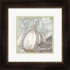Megan Duncanson 'Buon Appetito Garlic' Framed Art