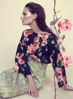 Harper's Bazaar UK, May 2013, photos by Elena Rendina.
