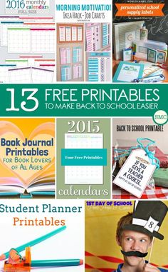 These free printables for back to school are brilliant - especially number 2!