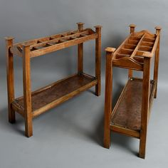 A Pair of 19th Century Oak Club Stick Stands www.timothylangston.com
