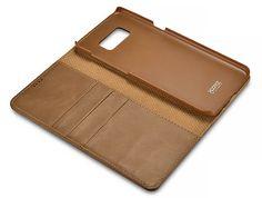 XOOMZ Samsung Galaxy S8 Plus Wallet Stand Genuine Cowhide Leather Folio Case