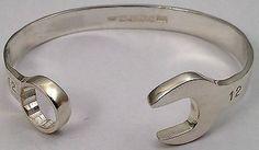Sterling Silver Spanner Bangle 925 Solid Wrench Bracelet UK ...