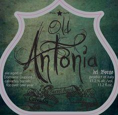 Cerveja Old Antonia Calvados Barrel Aged, estilo Wood Aged Beer, produzida por Birra del Borgo, Itália. 11.2% ABV de álcool.