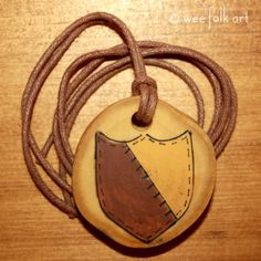Shield Pendant Fit For A Knight | Wee Folk Art