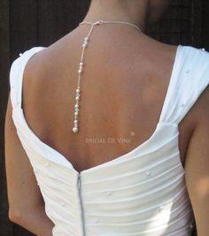 Backdrop Lariat Necklace  Bridal Wedding Prom Swarovski