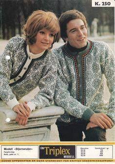 Mønsteret til Stjerneruter K 250 Knit Jacket, Sweater Jacket, Vest, Norwegian Knitting, Fair Isle Pattern, Fair Isle Knitting, Vintage Knitting, Pull, Knit Crochet