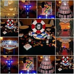 Some pretty cool ideas for Vegas Party... I like the banner sign that says what happens stays...