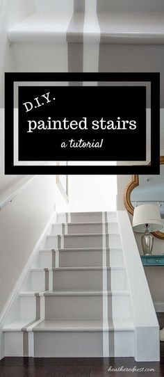Incredible Stair Makeover With Paint So Much Cheaper Than Stain Or New Stairs Great Painted Stairs Diy Tutorial. In the event that You Can Hold A Paintbrush, You Can Easily Learn How To Paint Stairs Incredible Stair Makeover With Paint So Much Chea