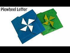 "Origami Paper - "" Secret Pinwheel letter/Card"" - Very Easy to make !! - YouTube"