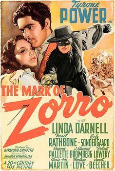 The Mark Of Zorro - 1940 - Movie Poster – Poster-Rama