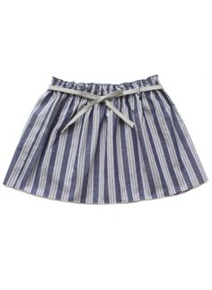 Babe & Tess Girls Pinstripe Skirt