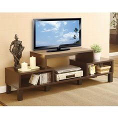Simplify your home entertainment area with this Modern TV Stand with Audio Video Media Storage Shelves. This TV console accentuates your furnishings wit 60 Inch Tv Stand, 60 Inch Tvs, 60 Tv Stand, Black Tv Stand, Living Room Entertainment Center, Home Entertainment, Living Room Sets, Bedroom Sets, Baltimore
