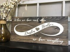 Wedding Sign / Wedding Gift / Bridal Shower Gift / Infinity Sign / Wedding date Sign / When we have – Wedding Shoes Bridal Shower Gifts For Bride, Bridal Shower Photos, Unique Bridal Shower, Wedding Gifts For Guests, Bridal Shower Decorations, Bridal Gifts, Wedding Favors, Wedding Decorations, Ikea Wedding