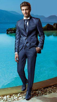 BA 2225-17 #sposo #groom #suit #abito #wedding #matrimonio #nozze #blu #blue
