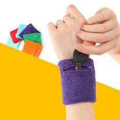 Outdoor Running Cycling Wrist Band Wallet Safe Storage Wallet Zipper Wrist Ankle Wrap Sport Strap Bracers Wrister Hot Sale