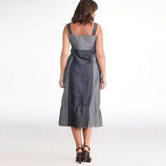 Robe longue lin/coton, Taillissime