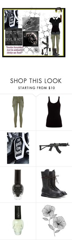 """""""So goth I'm dead"""" by thin-mint ❤ liked on Polyvore featuring rag & bone/JEAN, James Perse, Killstar, RIFLE, Rick Owens and WallPops"""