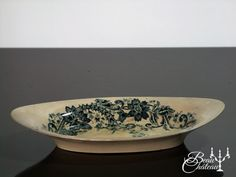Antique French Ironstone Transferware Dish by BeauChateauBoutique
