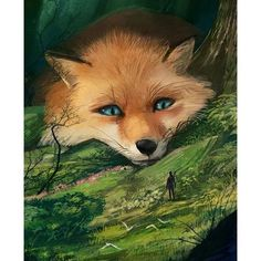 This mysterious Japanese artist, who goes by the pseudonym of or Monokubo, on social media channels, creates otherworldly illustrations that breathe life into a completely new fantasy world where giant animals live and evolve alongside humans. Fantasy Wesen, Fantasy Art, Fox Fantasy, Fantasy Makeup, Mythical Creatures Art, Fantasy Creatures, Cute Animal Drawings, Cute Drawings, Yuumei Art