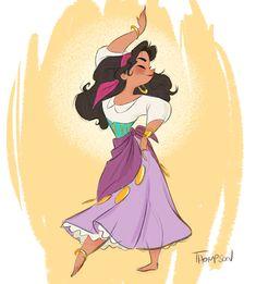 """1,335 Likes, 16 Comments - Steven Thompson (@sthompsonart) on Instagram: """"Dance la Esmeralda, dance! #disney #thehunchbackofnotredame #sthompsonart #esmeralda"""""""