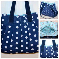 Pleated bag - a modified version of the 'For pleats sake' bag by Lisa at U-handbag.