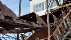 Lost Places der Industriekultur - Ferropolis - Burgdame Himmelsscheibe Von Nebra, Museum, Fighter Jets, Aircraft, Lost, Places, Steel Sculpture, Steel Mill, Aviation