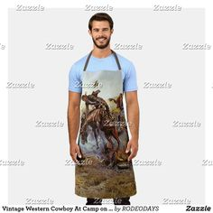 Western Wild, Western Cowboy, Aprons Vintage, Vintage Shops, Western Kitchen Decor, Horse Camp, Summer Bbq, Westerns, Cool Designs